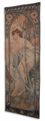 Casa Padrino Art Nouveau Tapestry Multicolor 72 x H. 195 cm - Art Nouveau Wall Decoration