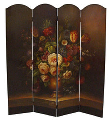 Casa Padrino Art Deco Room Divider Brown / Multicolored 161 x H. 168,7 cm - Luxury Paravent Privacy Screen