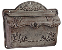 Casa Padrino Art Nouveau Cast Iron Wall Mailbox Antique Gray 31.4 x H 25.7 cm - Art Nouveau Decoration