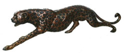 Casa Padrino Luxury Bronze Figure Gepard 115 x 17 x H. 26 cm - Luxury Quality