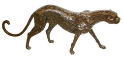 Casa Padrino Luxury Bronze Figure Gepard 140 x 20 x H. 58 cm - Luxury Quality