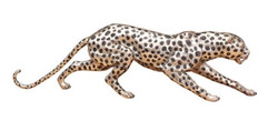 Casa Padrino luxury bronze figure cheetah silver / black 62 x 14 x H. 18 cm - Luxury Quality