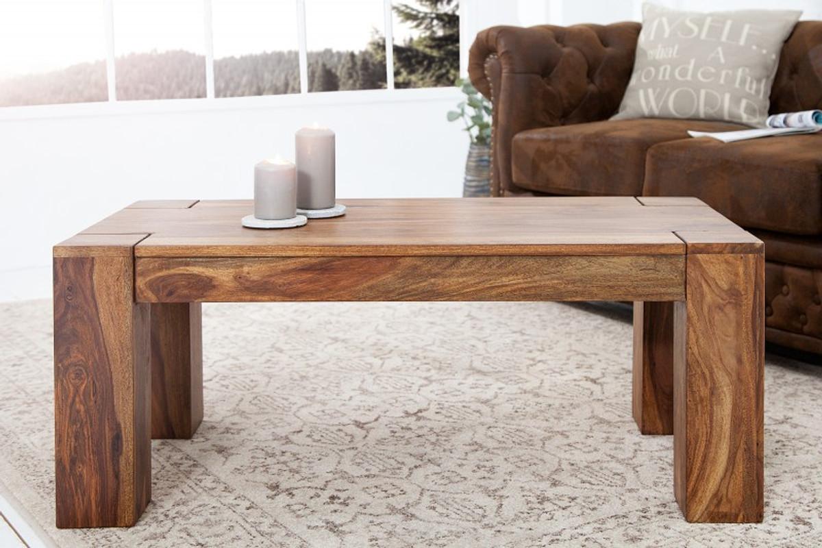 Tavolino da salotto in legno massello di design Casa Padrino natura ...