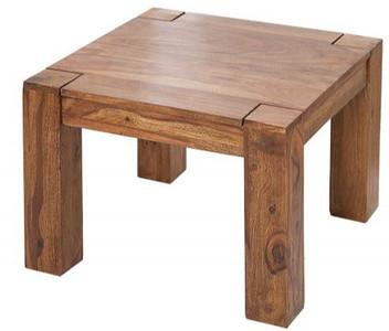 Casa Padrino Designer Massivholz Couchtisch Natur 60 x H. 40 cm -  Massivholz - Salon Wohnzimmer Tisch