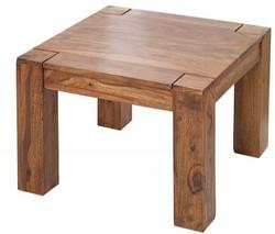 Casa Padrino designer solid wood coffee table nature 60 x H. 40 cm - solid wood - living room living room table