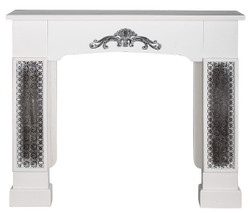 Casa Padrino country style fireplace surround with embellishments white 115 x 23 x H. 100 cm - Handmade Deco in Country Style