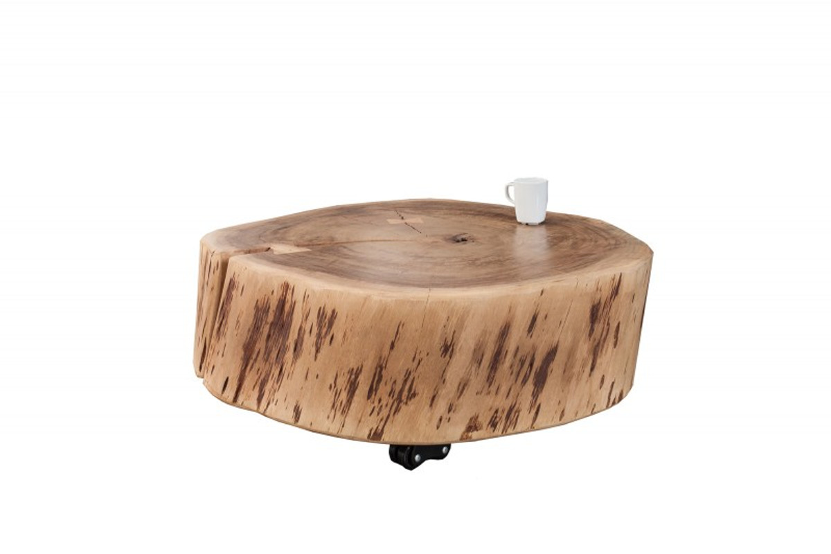 Casa Padrino Designer Solid Wood Coffee Table Acacia Nature 60 X H 22 Cm Solid Wood Living Room Table Unique Coffee Tables Luxury Hotel Coffee Tables