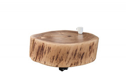 Casa Padrino designer solid wood coffee table acacia nature 60 x H. 22 cm - solid wood - living room table - unique