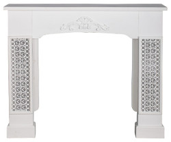 Casa Padrino country style fireplace surround with embellishments white 115 x 23 x H. 100 cm - Country Style Furniture
