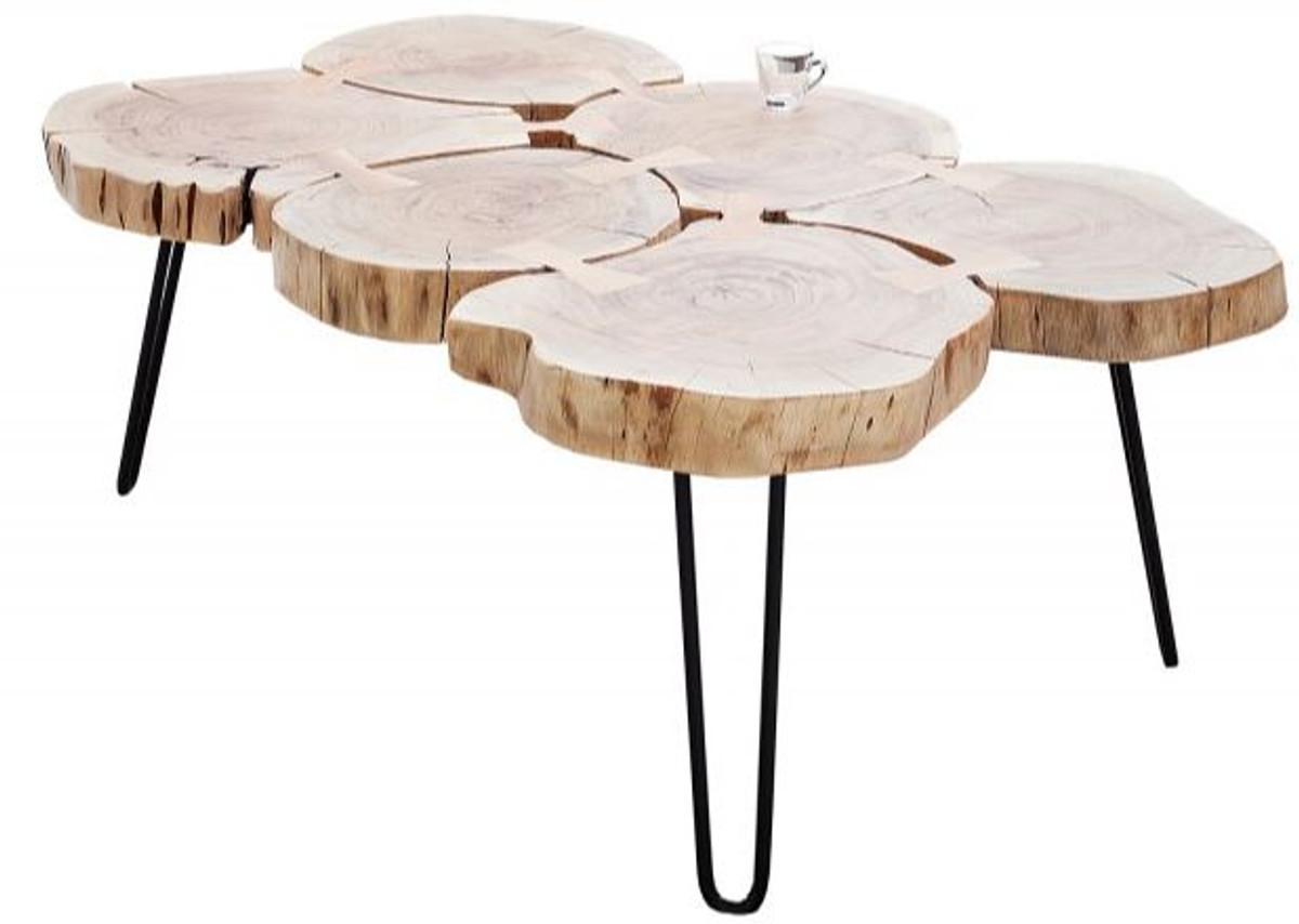 Casa Padrino Designer Massivholz Couchtisch Akazie Natur 115 X H 40