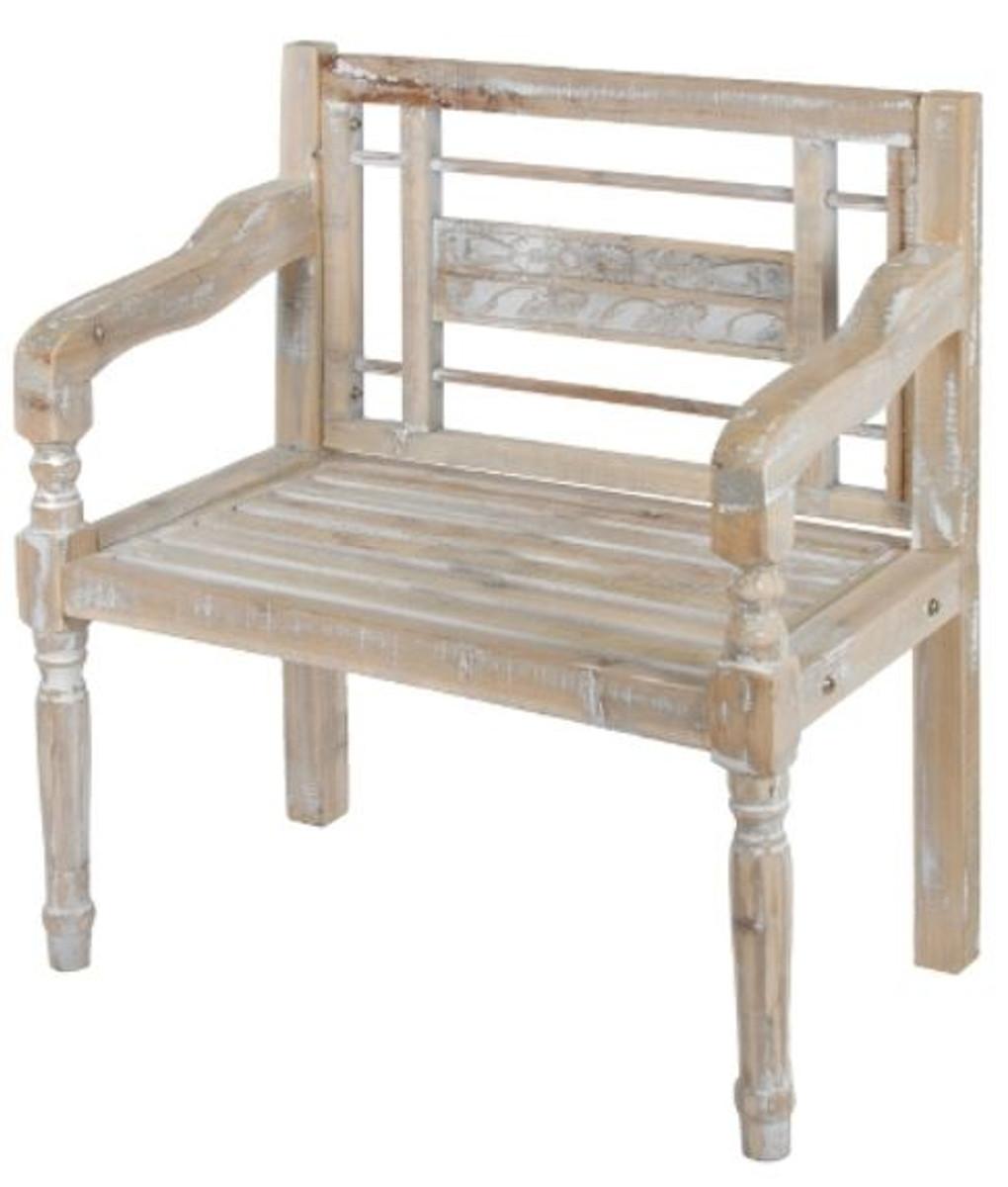 casa padrino landhausstil sitzbank mit armlehnen antik. Black Bedroom Furniture Sets. Home Design Ideas
