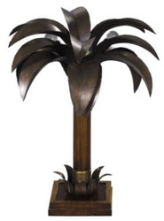 Casa Padrino luxury table lamp / table light palm brown 60 x 60 x H. 78 cm - Luxury Quality