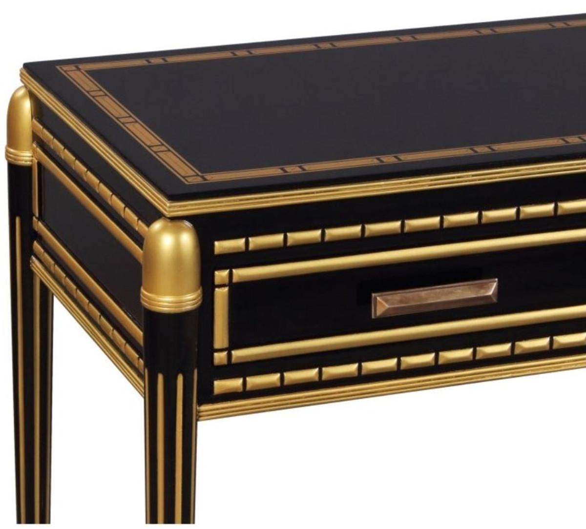 casa padrino luxus wohnzimmer konsolentisch schwarz gold
