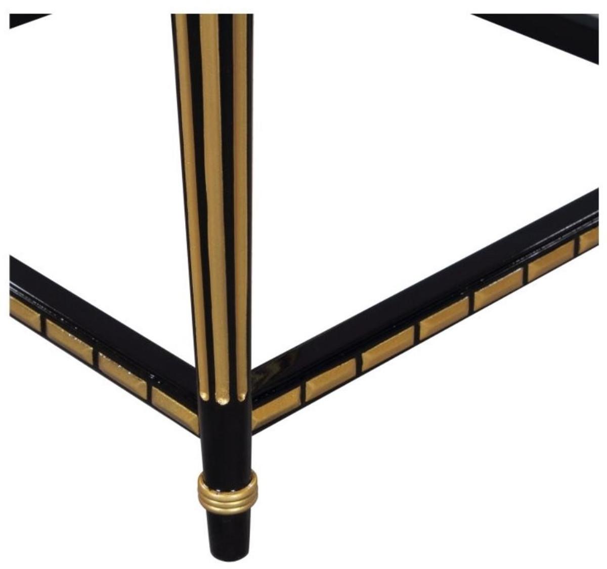 casa padrino luxus wohnzimmer blumentisch schwarz gold