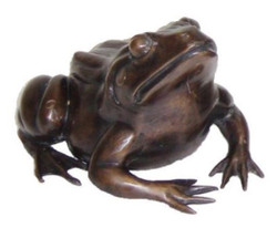 Casa Padrino luxury decoration bronze frog 24 x 30 x H. 16 cm - Luxury Bronze Figure
