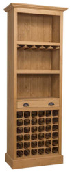 Casa Padrino country style bar cabinet natural colors 78 x 41 x H. 210 cm - Country Style Wine Cabinet