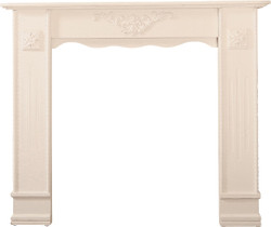Casa Padrino Country Style Shabby Chic Fireplace Surround Antique White 122 x 25 x H. 100 cm - Handmade Deco in Country Style