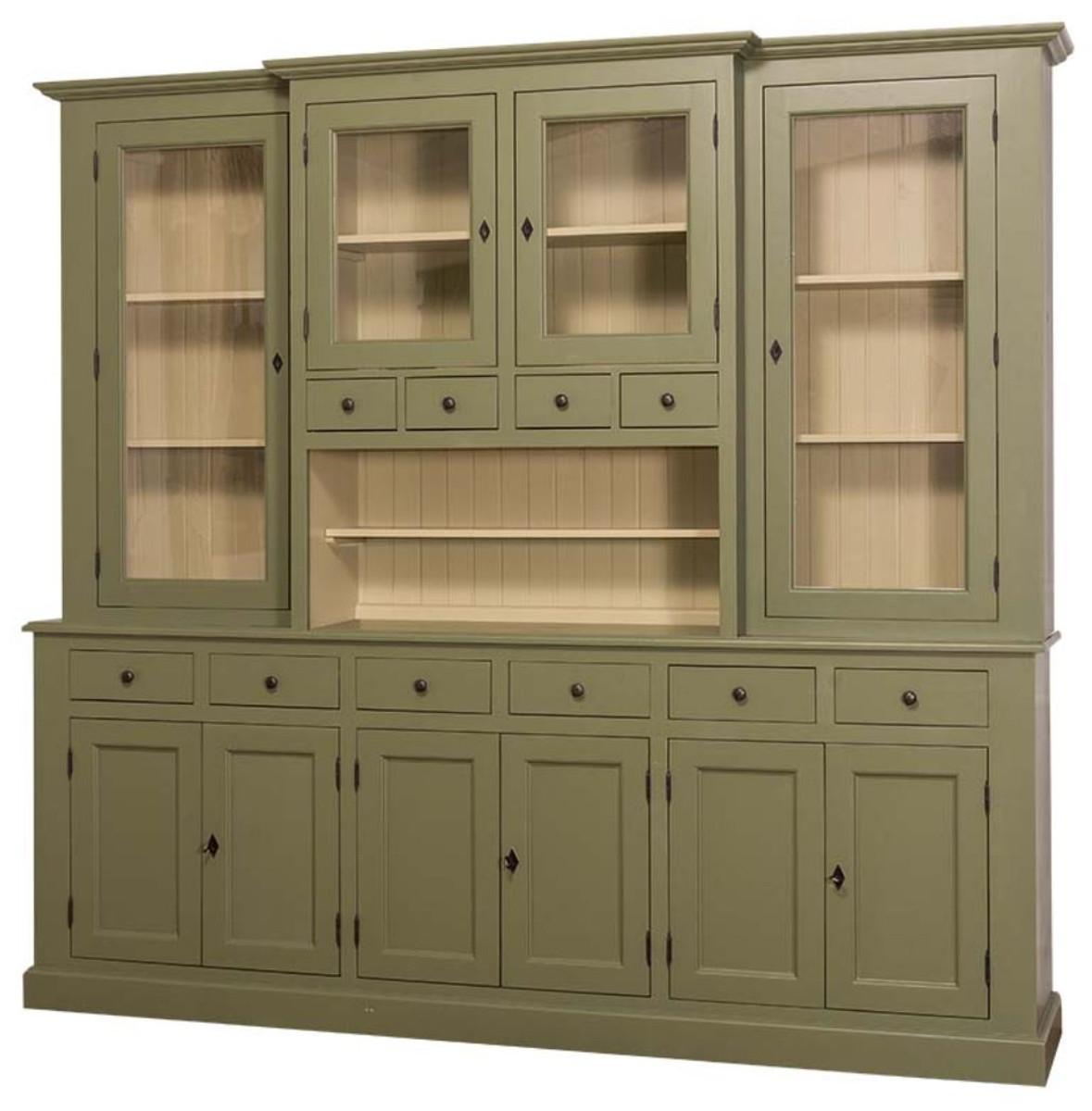 casa padrino landhausstil küchenschrank grün / beige 244 x 45 x h