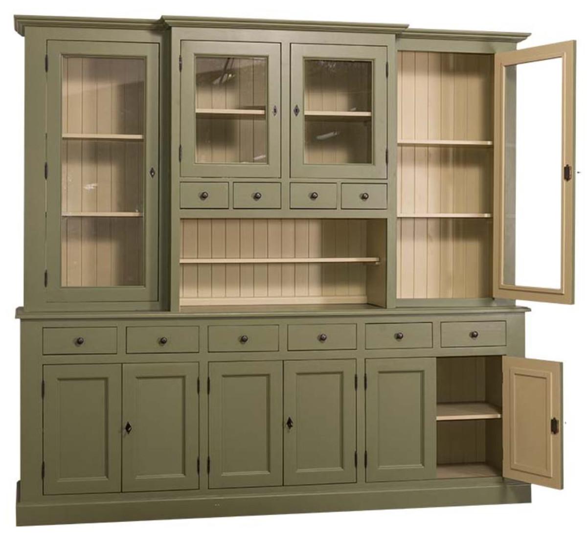 Casa Padrino mobile da cucina stile country verde / beige 244 x 45 x ...