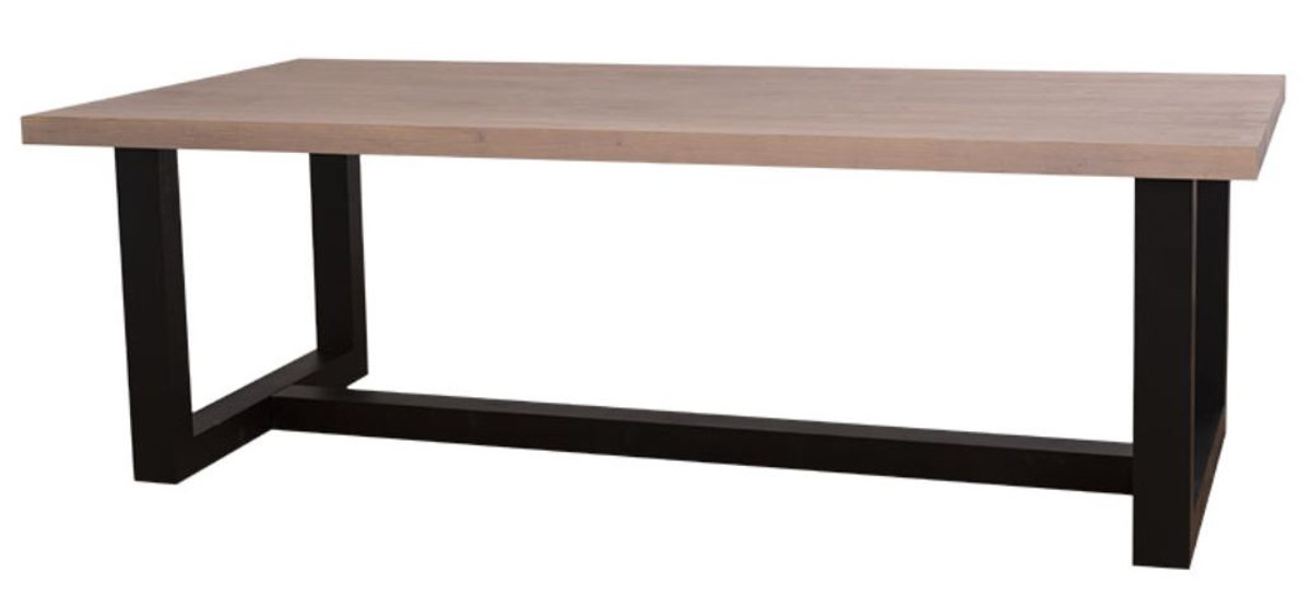 Casa Padrino Country Style Dining Table Natural Colors Black 240 X 120 X H 78 Cm Solid Wood Dining Table