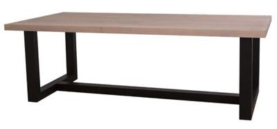 casa padrino landhausstil esstisch naturfarben schwarz 240 x 120 x h 78 cm massivholz. Black Bedroom Furniture Sets. Home Design Ideas