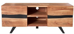 Casa Padrino Designer sideboard natural W.160 x H.65 x D.43 - TV cabinet - chest of drawers - Handmade from solid acacia wood!