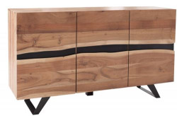 Casa Padrino Designer sideboard natural W.150 x H.85 x D.43 - TV cabinet - chest of drawers - Handmade from solid wood!