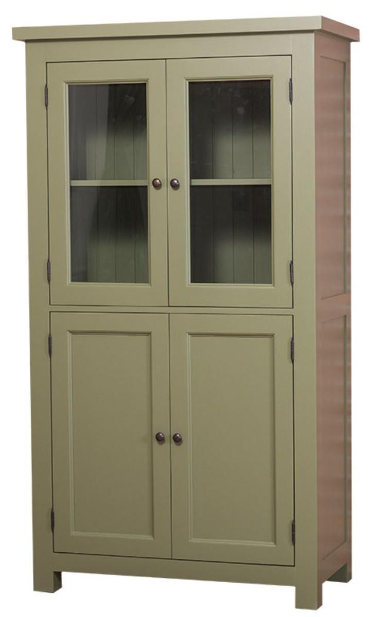 Casa Padrino Landhausstil Küchenschrank mit 4 Türen Grün 100 x 50 x ...
