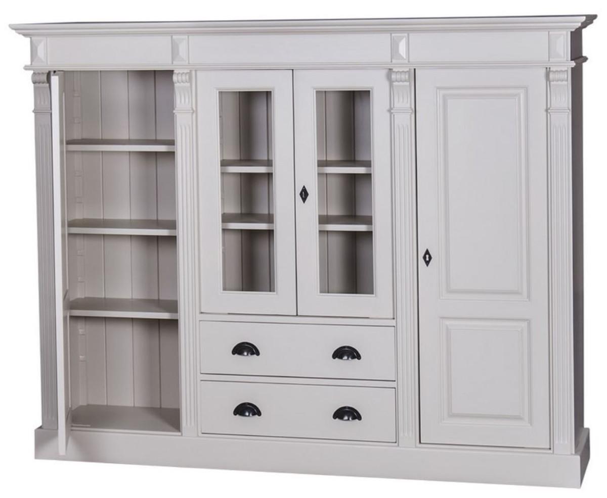 Casa Padrino Landhausstil Wohnzimmerschrank mit 8 Türen und 8 Schubladen  Hellgrau 8 x 8 x H. 8 cm - Wohnzimmermöbel im Landhausstil