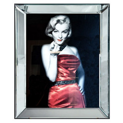 Casa Padrino Designer Image Lady in Red Marilyn Monroe Mod1 - Limited Edition