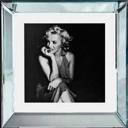 "Casa Padrino Designer Picture ""Stay awhile"" Marilyn Monroe 40 x 40 cm - Limited Edition"