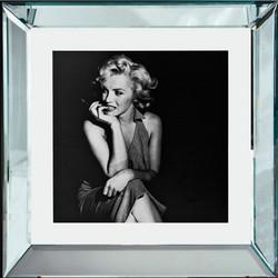 """Casa Padrino Designer Bild """"Bleib eine Weile"""" Marilyn Monroe 40 x  40 cm - Limited Edition"""