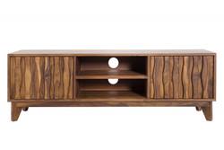 Casa Padrino Designer TV Cabinet TV Board Natural W.145cm x H.45cm x D.40cm - Sideboard - Dresser - Handmade Solid Wood!