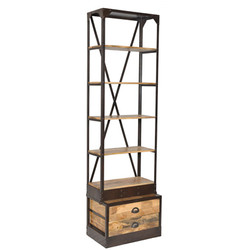 Casa Padrino bookcase natural antique look 60 x 40 x H.210 cm - Shelf cabinet, bookcase
