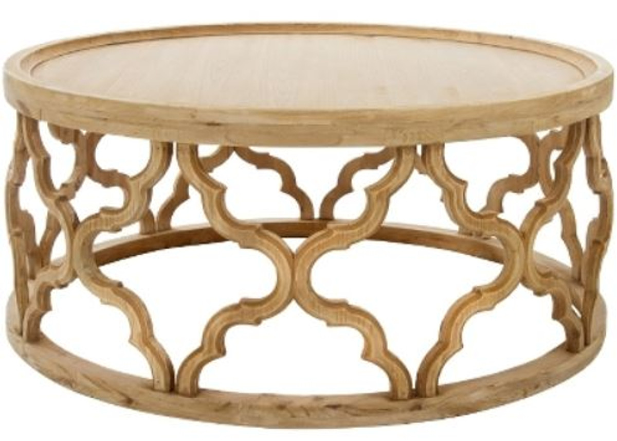 - Casa Padrino Designer Coffee Table Natural Colors Ø 80 X H. 37 Cm