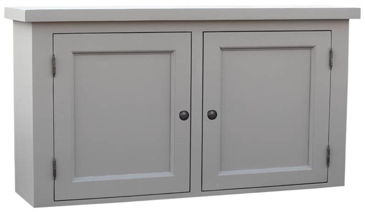 Casa Padrino pensile da cucina stile country grigio 120 x 31 x H. 65 cm -  Pensile da Cucina in Stile Country con 2 Ante