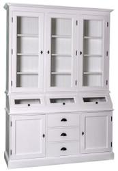 Casa Padrino Landhausstil Küchenschrank / Buffetschrank Weiß 163 x 50 x H. 226 cm - Landhausstil Möbel
