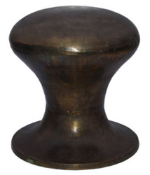 Casa Padrino luxury aluminum bollard stool antique brass Ø 39 x H. 42 cm - Designer Furniture