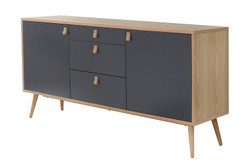 Casa Padrino Designer Kommode  - Sideboard 150cm x 40cm x H.75cm - Konsolen Tisch - Hotel Möbel