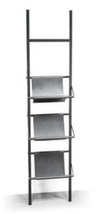 Casa Padrino Magazine Rack Black 40 x 22 x H. 174 cm - Luxury Accessories