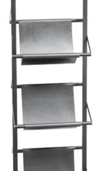 Casa Padrino Magazine Rack Black 40 x 22 x H. 174 cm - Luxury Accessories 2