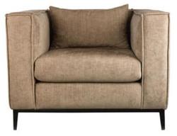 Casa Padrino luxury armchair beige / black 90 x 75 x H. 66 cm - Hotel Furniture