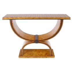 Casa Padrino Art Deco side table 120 cm x 35 cm x H.95cm - Antique style table - Furniture