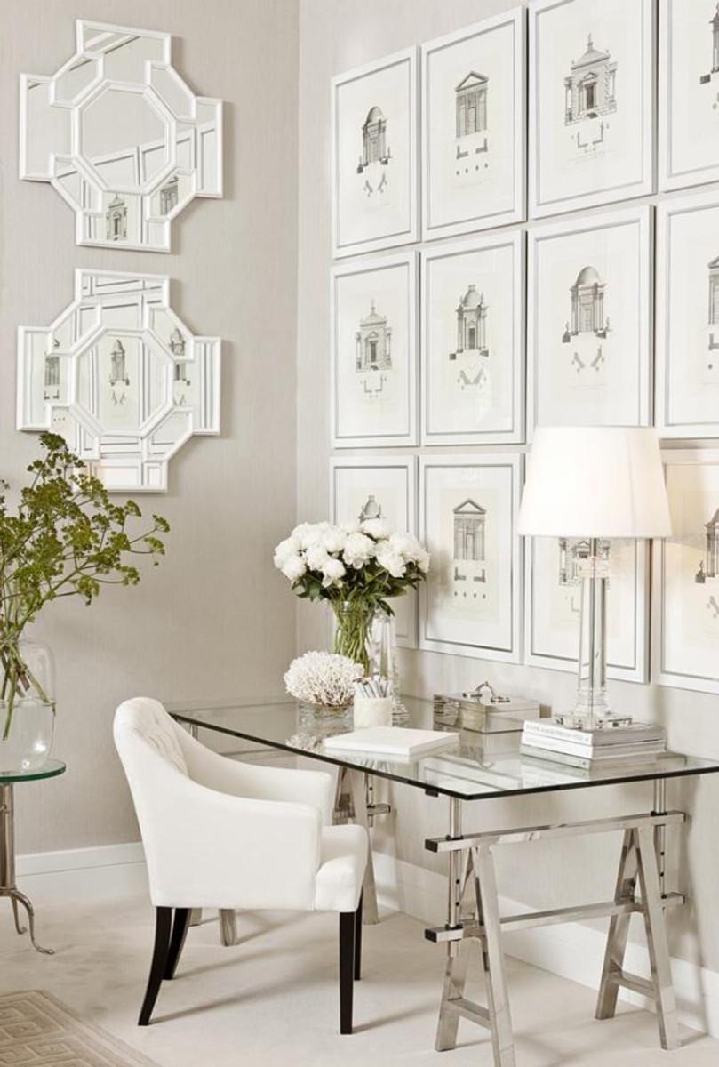 Casa padrino luxus bilder kunstdruck 4er set architektur for Kunstdruck wohnzimmer