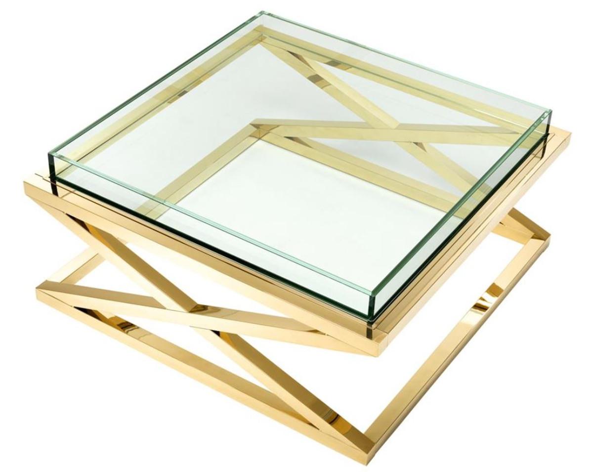 Casa padrino luxus couchtisch wohnzimmertisch gold 100 x for Wohnzimmertisch 100 x 50