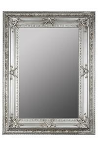 Casa Padrino Barock Wandspiegel Silber Höhe 120 cm, Breite 90 cm - Edel & Prunkvoll - Vintagelook - Handgefertigt