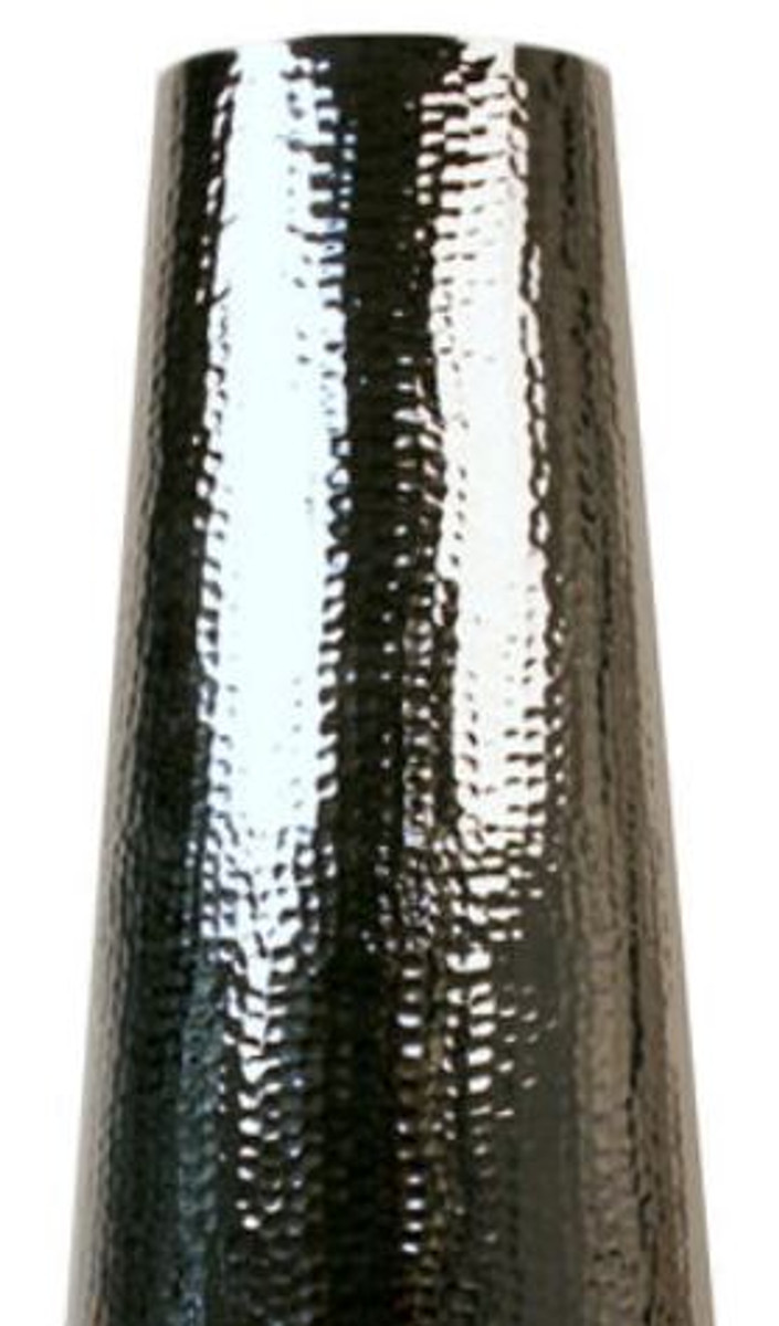 Casa Padrino Aluminium Vase Silber Ø 44 x H. 120 cm - Luxus Deko Vase 2