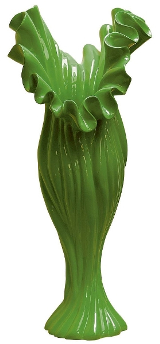 Casa Padrino Designer Blumenvase Grün B. 24 cm Höhe 60 cm - Dekovase 1