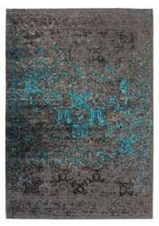Casa Padrino Luxury Carpet Gray / Blue - Various Sizes - Living Room Carpet