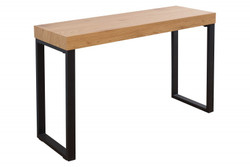 Casa Padrino designer laptop table nature / black 120 x 40 x H.75 - desk - secretary console - computer desk